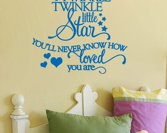 Twinkle Twinkle Little Star-adorable nursery/child's room Wall Decal 26x23