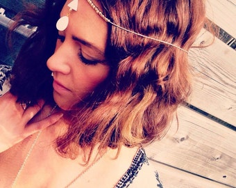Gold & Shell Boho Headpiece