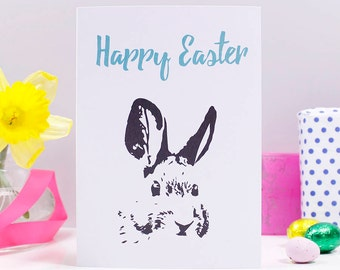 Happy Easter Easter Rabbit Card - Easter card - Rabbit easter card - Happy Easter card - Rabbit card - Easter card