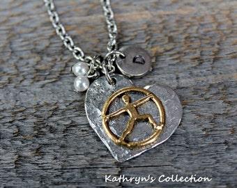 Yoga Necklace, Yoga Pose, Yoga Warrior, Yoga Jewelry