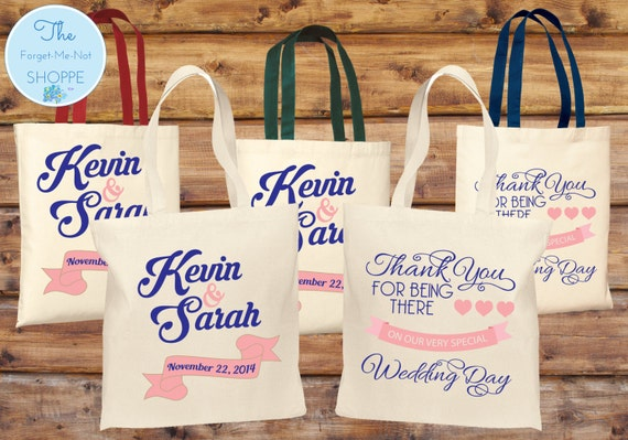 Personalized Wedding Tote Bag ~ Custom Wedding Favor, Gift Tote Bags, Marriage T003