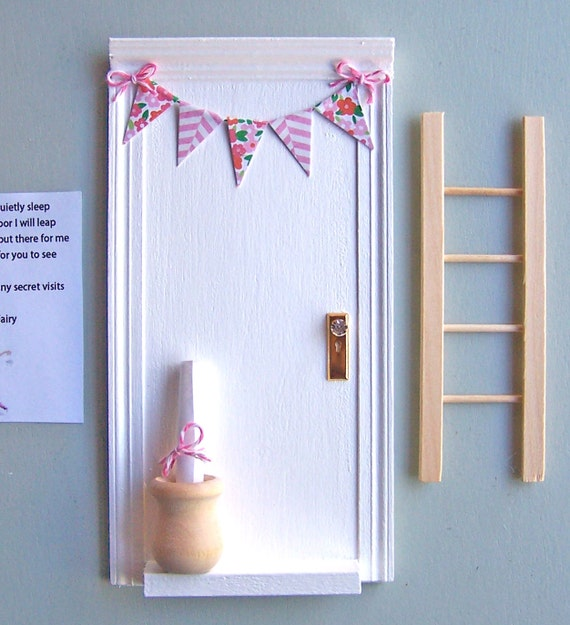 Magic tooth fairy door with little wooden pot by parkerjshop for The magic fairy door