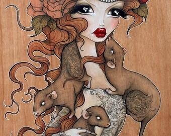 "Print of my original illustration ""Harriett"""