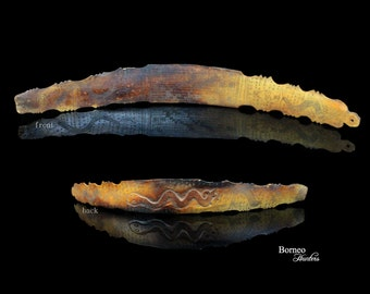 "Batak Bone Oracle 14.75"" Shaman Amulet With Incised Symbolic Detail From Toba Sumatra Indonesia Tribal Datu Priest Ceremonial Bone Calender"