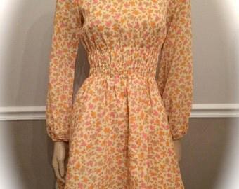 60's mini floral dress