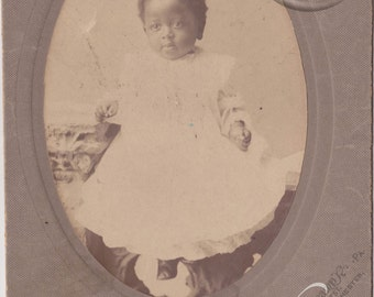 Vintage CabinetPhoto - Identified African American  Baby Boy