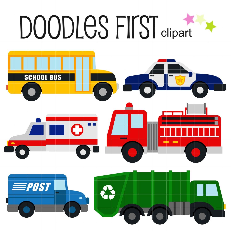 Community Vehicles Digital Clip Art For on Transportation Theme For Kindergarten