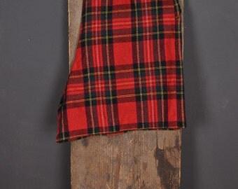 Vintage 90s tartan red culotte