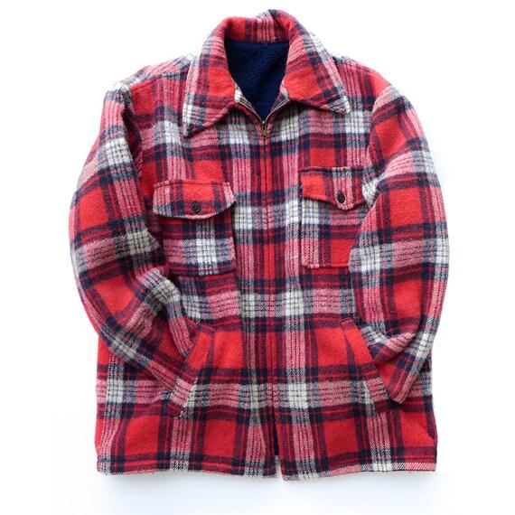Heavy lumberjack plaid jacket shirt boyfriend flannel jacket for Heavy plaid flannel shirt