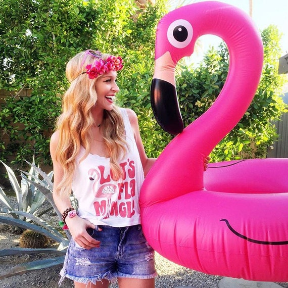 Let's Flamingle Crop Top, Summer Vacation, Girl Power