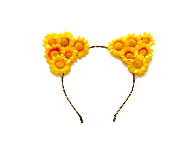 Yellow Cat Ear Headband