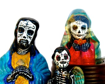 Day of the Dead Hand Painted Skeleton Angel Figurine