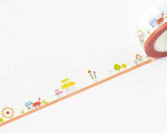 Washi Tape - Kids Town - no.587 // 15mm x 10m