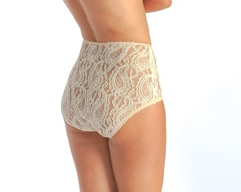 Lace Panties - High Waist Panties - Plus Size Underwear