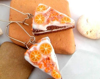 SALE Earrings Jewelry, Polymer Clay,  Food Miniatures Dangle
