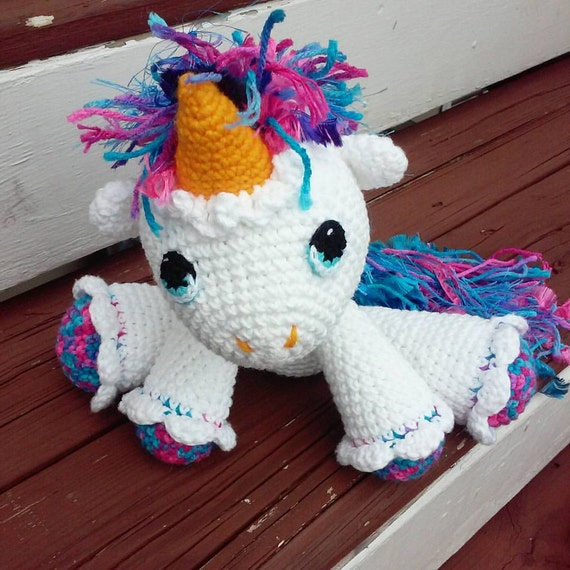 Unicorn Amigurumi Yarn Yard : Crochet Unicorn Magical Unicorn Amigurumi Unicorn Unicorn