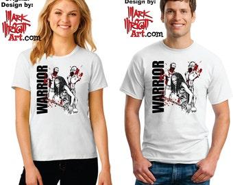 Walking Dead WARRIOR Original Artwork T-Shirt Design