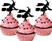 set of 6 Halloween Cupcake Toppers , cupcake decor, acrylic cupcake toppers, halloweenparty decor, funny cake topper, Halloween decor