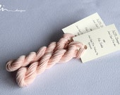 Hand dyed cotton thread / floss (6 strands) pale scarlet (090) for cross stitch / embroidery