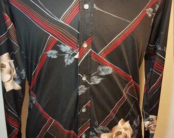 FREE  SHIPPING  Men 1970 Abstract Shirt