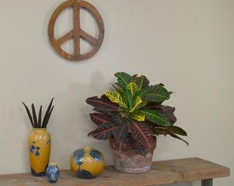 Peace Sign Metal Wall Art, Sculpture, Wall Hanging, Rustic Home Decor, Garden Wall Art, Metal Art, WS1205