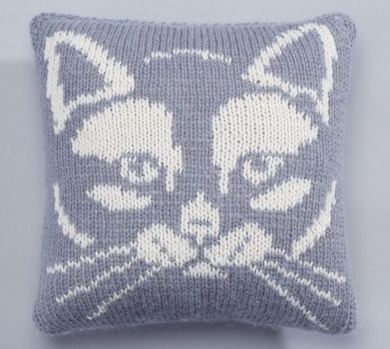 Easy Knitted Cushion Patterns : Knitting patterns pdf knitting cushion cover cat knit