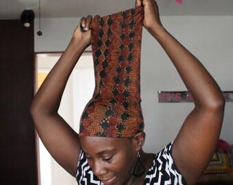 Rusty Tribal LocSoc/HairSock/Hairtube/Headwrap/sleepCap/Headband