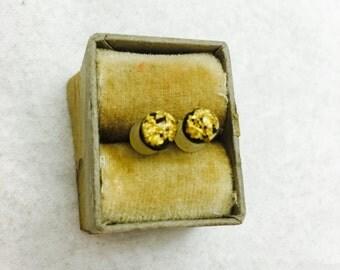Vintage Gold Fleck Post Earrings