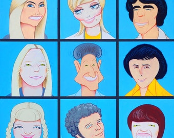 THE BRADY BUNCH limited edition art print by Dave Woodman