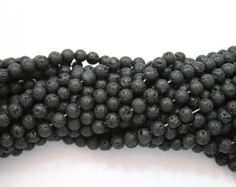 Lava Beads,10mm Lava Round Beads,Volcanic Beads,10mm Matte Black Lava Beads for making Jewelry