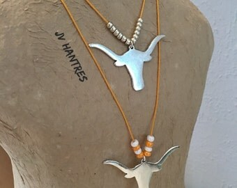Texas Longhorn Adjustable Necklace - Qty 1