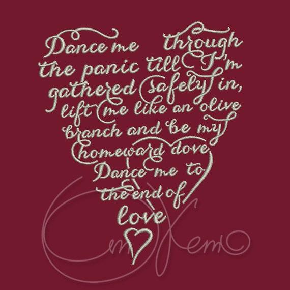 Machine embroidery design valentine s heart wedding