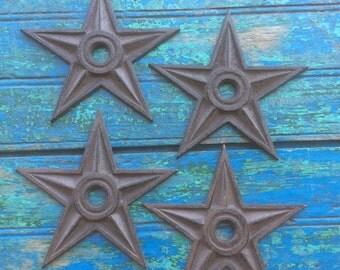 Cast Iron Rustic SET OF 4 Western Decor Primitive Star