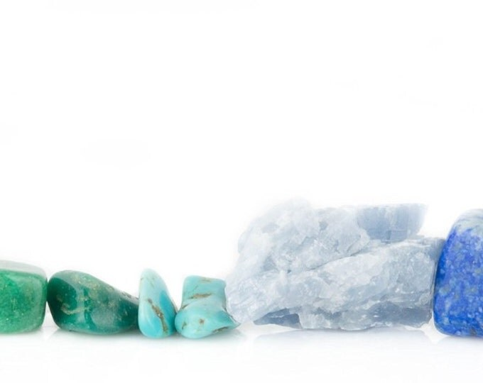 Throat Chakra Healing Kit Yoga, Meditation, Crystal Healing, and Reiki