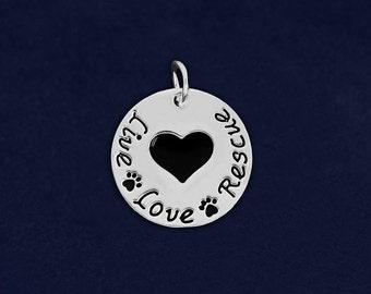 Live Love Rescue Paw Print Charm (RE-CHARM-12-P)