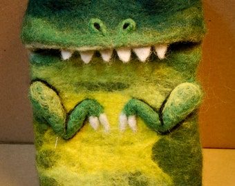 Monster felted phone case - bespoke monster bags and phone cases