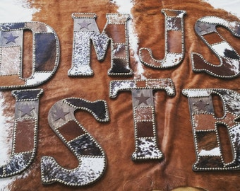 Custom Wooden Cowhide Letter Large Size