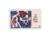 10 Unused Vintage Postage Stamps - 1964 5c Fine Arts - Item No. 1259