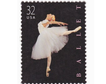 10 Unused Vintage Postage Stamps - 1998 32c Ballet - Item No. 3237