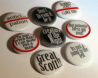 Time warp - dammit Janet - i can make you a man - jump to the left - dream it - pinback buttons - creature of the night -