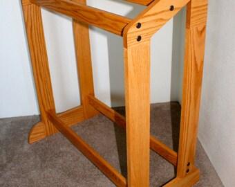 Quilt Stand, Oak Hardwood