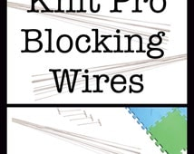 KNITPRO BLOCKING WIRES For lace and other Knitting Finishing  - knitting crochet embroidery