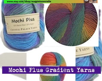 CRYSTAL PALACE YARN x 3 Mochi plus 100% wool approx worsted or aran weight in fab gradients!