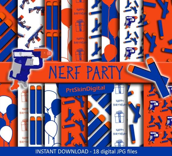 Nerf Gun Birthday Party Invitations – Nerf Gun Birthday Party Invitations