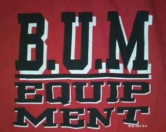 Vintage B.U.M. Equipment Red Sweatshirt 90s
