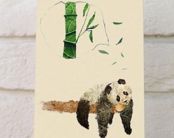Pocket notepads  - Panda small notebooks - Kraft mini notebooks - Unique notebooks