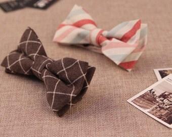 Handmade Lines Pattern Bowtie