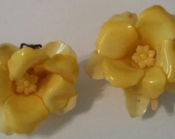Yellow Raised Flowers