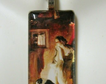 By the fireplace dog pendant and chain - DGP02-302