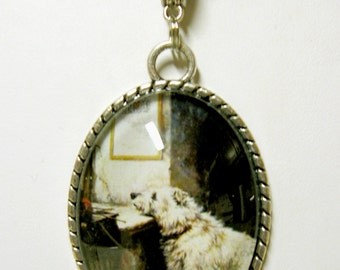 Will he come back terrier pendant with chain - DAP09-508